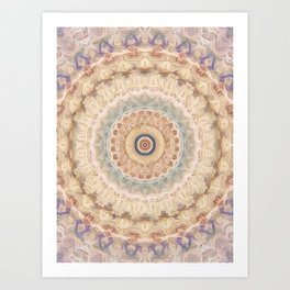 Purple Eye Mandala Art Print