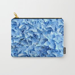 BABY BLUE HYDRANGEAS FLORAL ART Carry-All Pouch