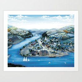 Factory Along The River by Kathy Jakobsen Art Print