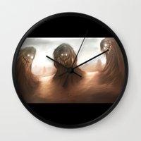 nightmare Wall Clocks featuring Nightmare by Teodor Borisov