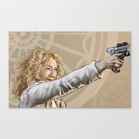 river song Canvas Prints featuring River Song by Celina Hulshof