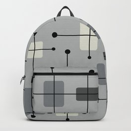 Rounded Rectangles Squares Gray Backpack