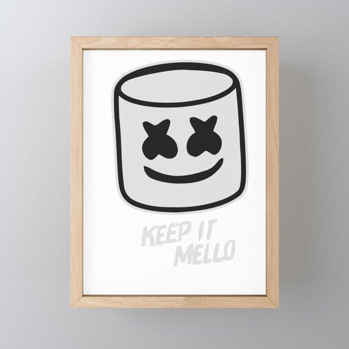 Marshmello Keep it Mello Framed Mini Art Print by benjaminhaynes