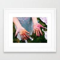 tye dye Framed Art Prints featuring Dye by Amy Kelly