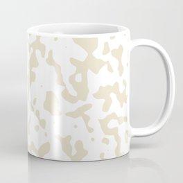 Spots - White and Pearl Brown Coffee Mug