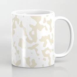 Spots - White and Pearl Brown Coffee Mug