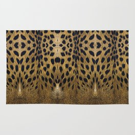 Leopard Pattern Leather Print Rug