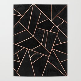 Velvet Black & Rose Gold Poster