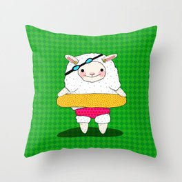 Let's Go To A Pool (Lambie) Throw Pillow