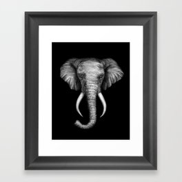 Elephant Head Trophy Framed Art Print