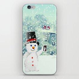 Snowman Selfie iPhone Skin