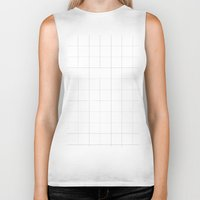 grid Biker Tanks featuring grid by equal dreamer