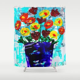 Fanciful Blooms Shower Curtain