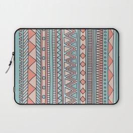 Tribal #4 (Coral/Aqua) Laptop Sleeve