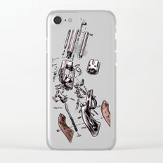 Exploded Gun Clear iPhone Case