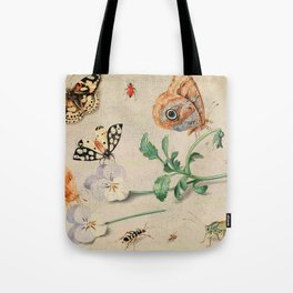 """Jan van Kessel de Oude """"Study of insects and flowers"""" Tote Bag"""