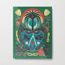 Lucky Charmed - Green Metal Print