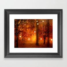 Surreal Fantasy Fairy Tale Woodlands Nature Trees Stars Print Framed Art Print