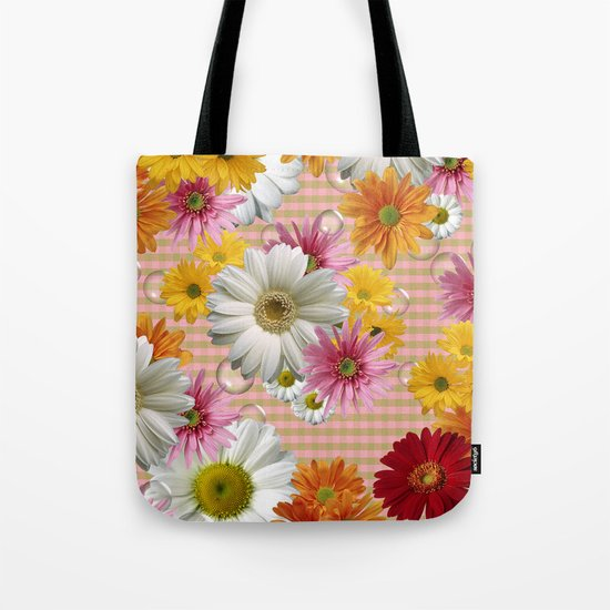 Retro Country Flowers Tote Bag