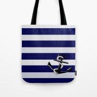 nautical Tote Bags featuring Nautical by Kristi Kaz