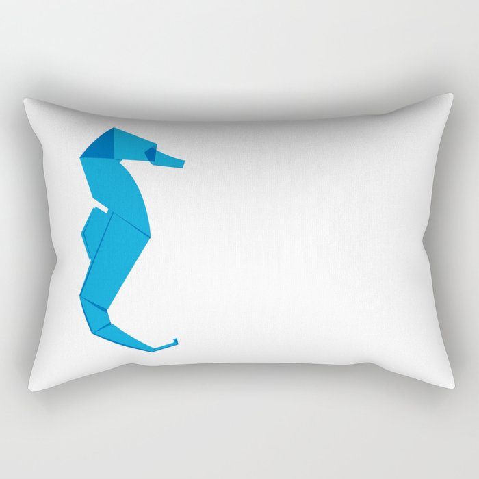 Origami Seahorse Rectangular Pillow By Staskhabarov Society6