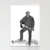 rock n roll Stationery Cards featuring Rock 'N' Roll by The Curly Whirl Girly.