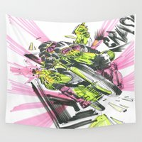 moto Wall Tapestries featuring Moto Mutants by Mike McDonnell