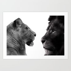 The Lion and Lioness Art Print