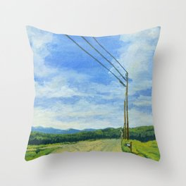 Vermont Backroad Throw Pillow