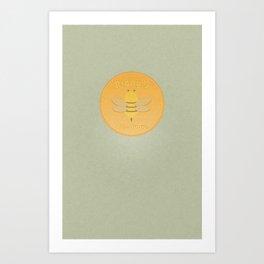 Bee Suave Art Print