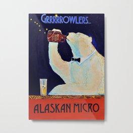 Growler Bear Metal Print