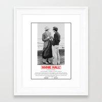 annie hall Framed Art Prints featuring Annie Hall by Lucas Preti