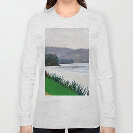 Edge Of The Seine At Tournedos - Digital Remastered Edition Long Sleeve T-shirt