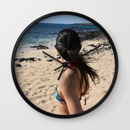 Girl, travel and relax Wall Clock