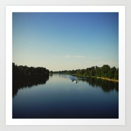 Boating on the Willamette Art Print