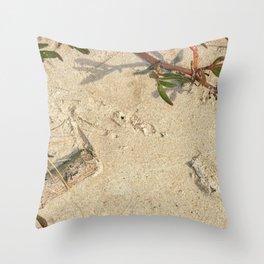 Real Macro Beach Sand Texture Throw Pillow