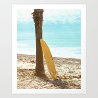 surfboard Art Prints featuring Surfboard by Sherman Photography