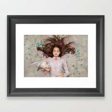 unexpected happiness. Alice Framed Art Print