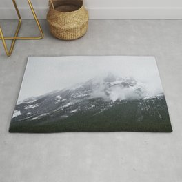 Mountains Landscape Photography | Maligne Lake Alberta Rug