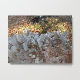 Arkansas Quartz Cluster Metal Print
