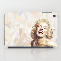 low poly iPad Cases featuring Marilyn low poly by Pinkpulp