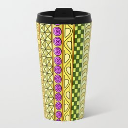 Yzor pattern 011 Yellow Things Travel Mug