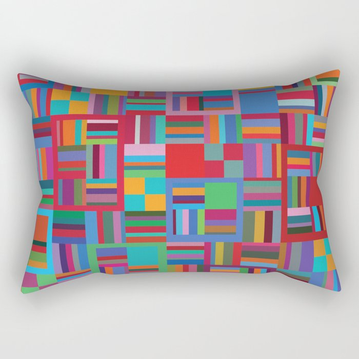 Let's Go Colorful Rectangular Pillow