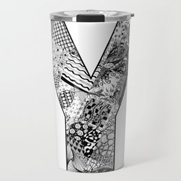 Cutout Letter Y Travel Mug