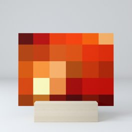 BLOCKS - RED TONES - 1 Mini Art Print
