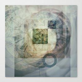 multi exposure clock  2 Canvas Print
