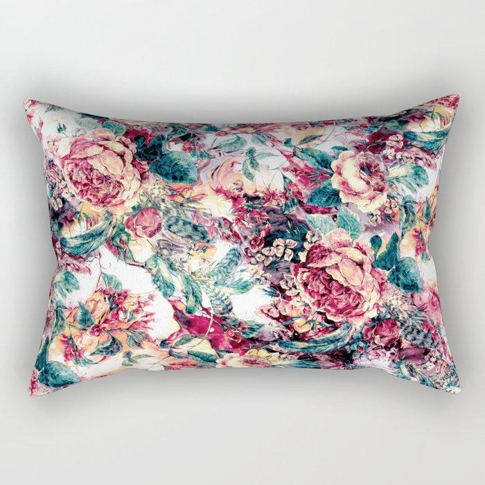 RPE FLORAL ABSTRACT II Rectangular Pillow