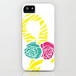 Endometriosis Ribbon 2 iPhone Case