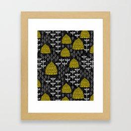 Honey Bees & Hives Framed Art Print
