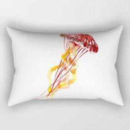Jellyfish Red Yellow Beach Art Rectangular Pillow